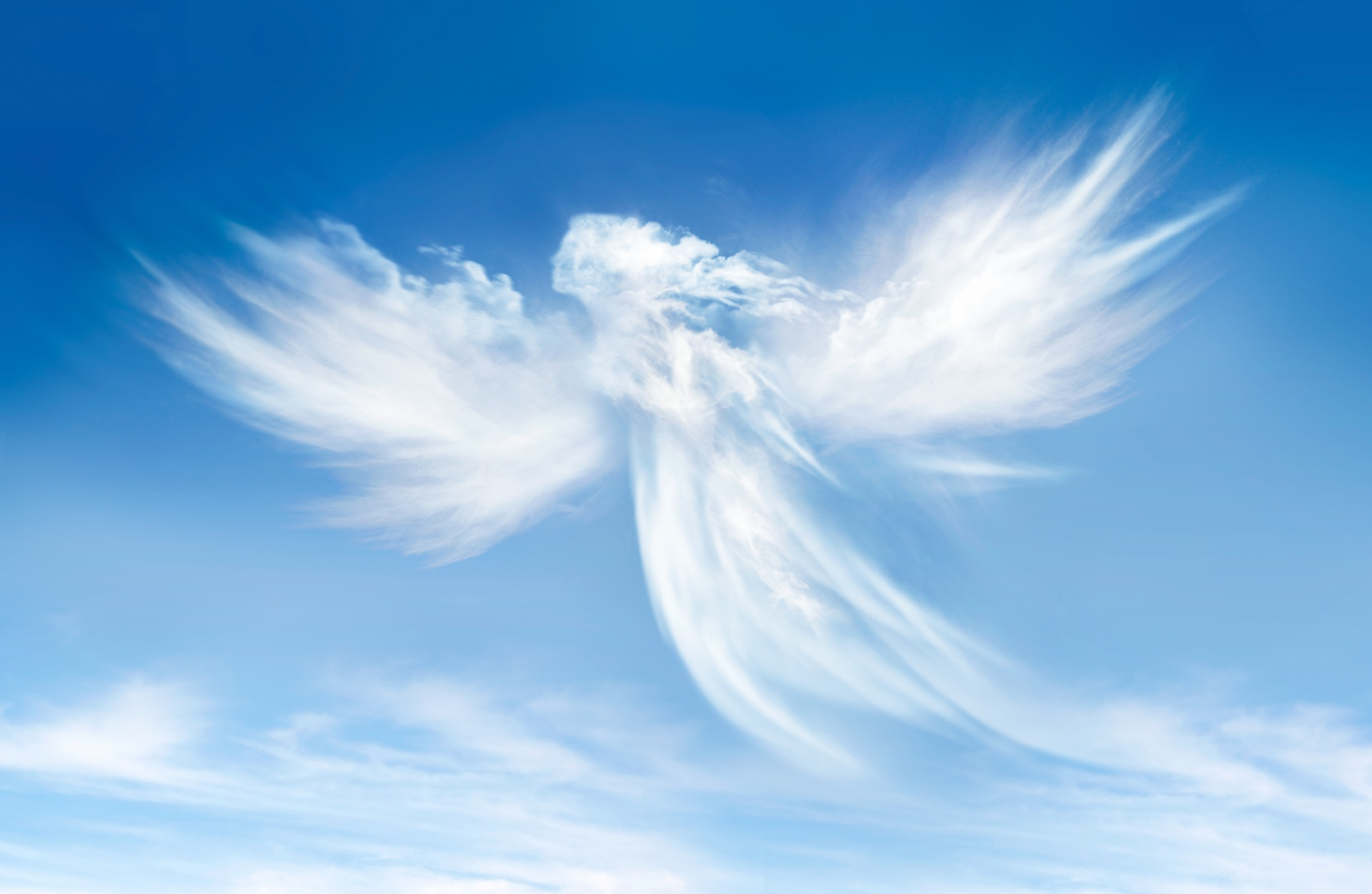 Engel Wolken im Himmel